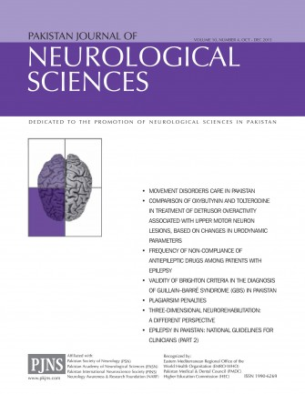PJNS Journal Artical Volume 10, Number 4, Oct – Dec 2015